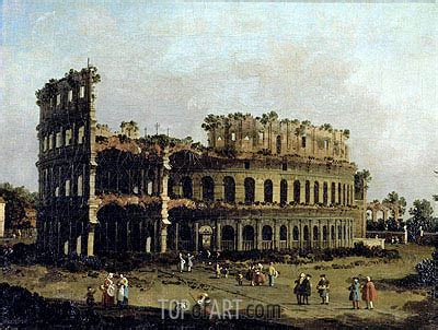 The Colosseum   Canaletto   Painting Reproduction 6597