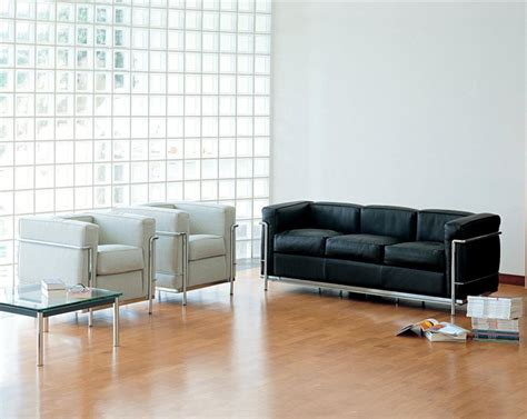 Italian Leather Lounge Furniture Stainless Steel Lc3 Le