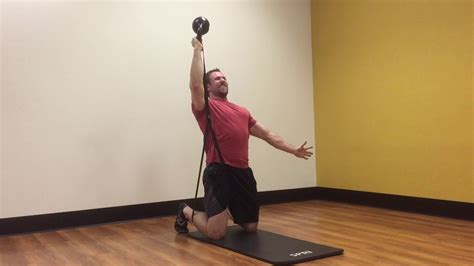 Bottoms-Up Kettlebell Press with Band Resistance - YouTube